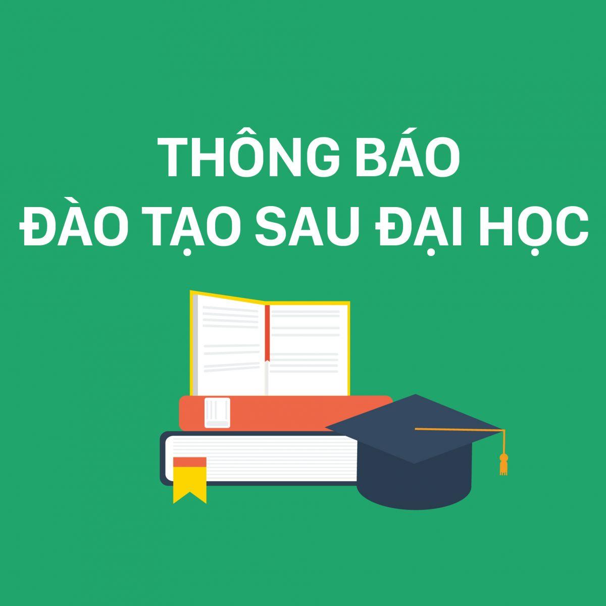 Thông báo: Lịch thi, thông tin số báo danh, phòng thi và các dặn dò khác -  thi tuyển sinh cao học đợt 2 năm 2020