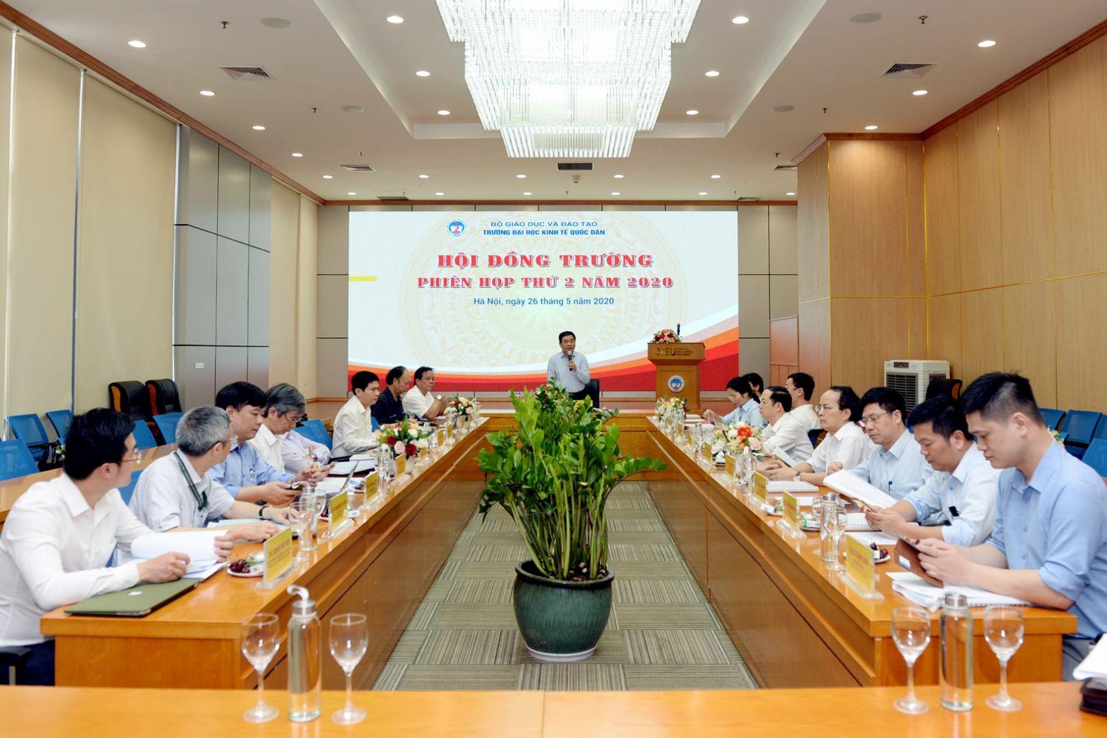 Phiên họp thứ 2 năm 2020 của Hội đồng trường – Trường Đại học Kinh tế Quốc dân